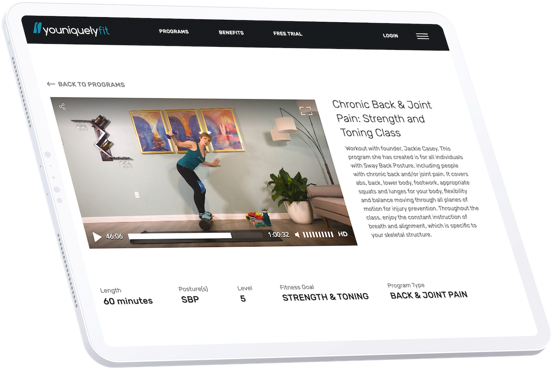 Corpoarate Employees Online Fitness Programs ipad mockup YouniquelyFit